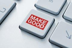 Fabricación del buen botón mágico Fotos de archivo