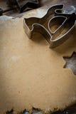 Fabricación del caballo de la Navidad de las galletas Fotos de archivo