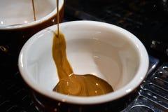 Fabricación del café del café express Imagen de archivo