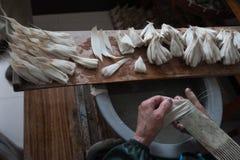 Fabricación del cepillo de escritura chino fotografía de archivo