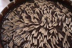 Fabricación del cepillo de escritura chino Fotos de archivo libres de regalías