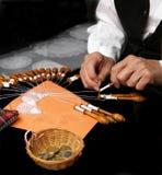 Fabricación del cordón Imágenes de archivo libres de regalías
