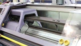 Fabricación del hilado y del hilo en planta de materia textil almacen de video