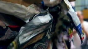 Fabricación del mache del papel del laboratorio del carnaval almacen de video