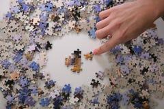 Fabricación del pazzle Imagen de archivo libre de regalías