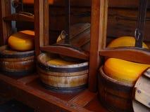 Fabricación del queso imagen de archivo