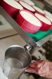 Fabricación del queso artesanal Imagen de archivo