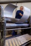 Fabricación del tubo del metal Imagen de archivo libre de regalías