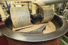 Fabricación del turrón Imagen de archivo