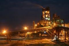 Fabricación industrial del cemento Foto de archivo