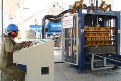 Fabricación industrial del ladrillo Fotografía de archivo