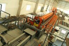 Fabricación industrial del ladrillo Fotos de archivo