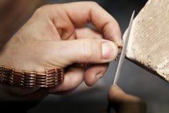 Fabricación y reparación de la joyería foto de archivo libre de regalías