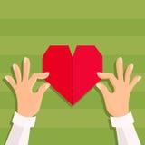 Fabricación de la tarjeta de la tarjeta del día de San Valentín Imagen de archivo libre de regalías