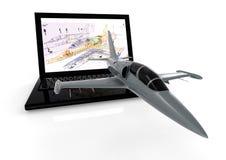 Fabricación de los aviones Imagen de archivo libre de regalías