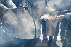 Fabricación del jarabe de arce Foto de archivo libre de regalías