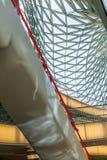 Fabricación del vidrio dentro del centro del myZeil Foto de archivo libre de regalías