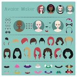 Fabricant d'avatar de femme illustration libre de droits