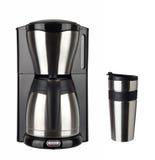 Fabricant de café et tasse thermo photos libres de droits