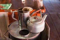 Fabricant de café de café thaïlandais Café antique Nonthaburi Photos stock