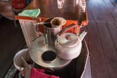 Fabricant de café de café thaïlandais Café antique Nonthaburi Images libres de droits