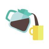 Fabricante de café con la taza ilustración del vector