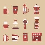 Fabricante de café del equipo stock de ilustración