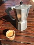 Fabricante de café del café express Imágenes de archivo libres de regalías