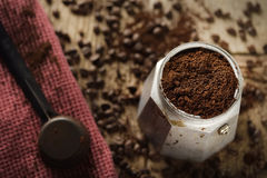 Fabricante de café expresso de Moka Fotos de Stock Royalty Free