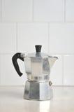 Fabricante de café italiano Fotografia de Stock