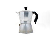 Fabricante de café italiano (crisol del moka) Fotos de archivo libres de regalías