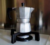 Fabricante de café italiano tradicional Imagem de Stock Royalty Free