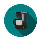 Fabricante de café plano del icono Fotografía de archivo