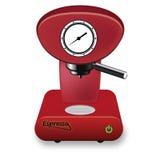 Fabricante de café vermelho Imagens de Stock
