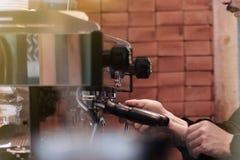 Fabricante de caf? imagem de stock
