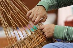 Fabricante de cesta Imagem de Stock