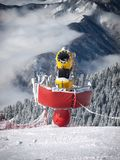 Fabricante de la nieve Fotografía de archivo libre de regalías