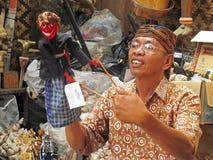 Fabricante de madera de la marioneta Fotos de archivo libres de regalías