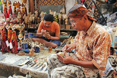 Fabricante de madera de la marioneta Imágenes de archivo libres de regalías