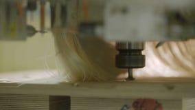 Fabricante de productos de madera en la carpintería en la fabricación de los muebles Macro metrajes