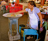 Fabricante de Quesadilla Foto de archivo libre de regalías