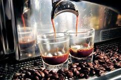 Fabricante del café express Imagenes de archivo