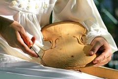Fabricante del violín Imagen de archivo libre de regalías