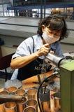 Fabricante do peltre, Kuala Lumpur, Malásia Imagem de Stock