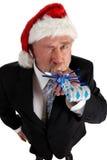 Fabricante do ruído de Santa do negócio Fotografia de Stock