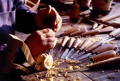 Fabricante encadenado viejo de los instrumentos Foto de archivo libre de regalías