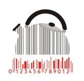 Fabricante y código de barras Foto de archivo