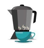 fabricante y taza de café del pote calientes libre illustration