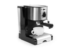 Fabricante y taza de café Foto de archivo libre de regalías