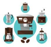 Fabricantes de café Fotografía de archivo libre de regalías